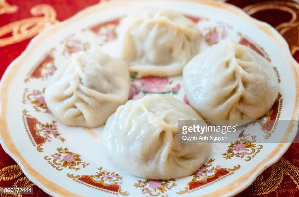 Buryatian chinese style steamed meat dumplings (Buuz or Manti)