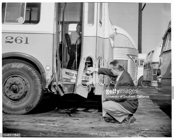 Bus accident at Century Boulevard and State Street in Lynwood 3 May 1954 Lee Anette [sic] Roppino 8 years killedKathleen Vento 7 years killedMrs...