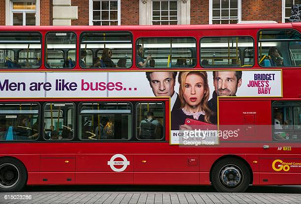 A bus along Piccadilly is adorned with a billboard for the new Bridget Jones movie is viewed on September 12 in London England The collapse of Great...