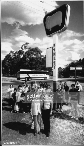 Bus Australia from Melbourne to BrisbaneDrivers left Barry and right Jeff take a coffee break around 1230 amThe Bus Australia vehicle with passengers...