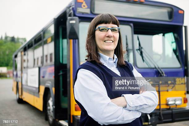 Bus driver by bus