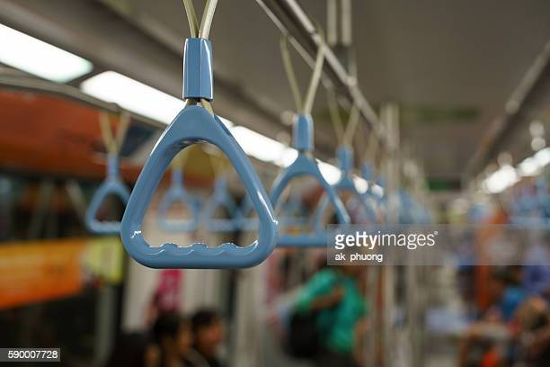 bus handle bar - handle stock pictures, royalty-free photos & images
