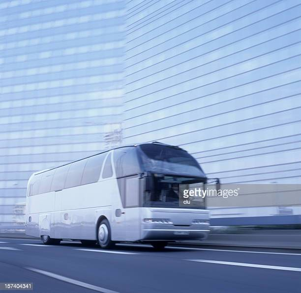 Bus in motion, slightly blured