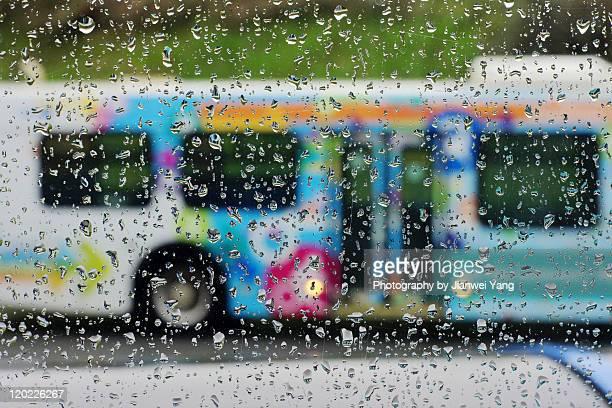 Bus in rain