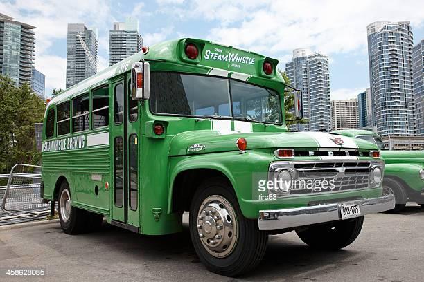 バスの汽笛醸造グリーンのリバリー