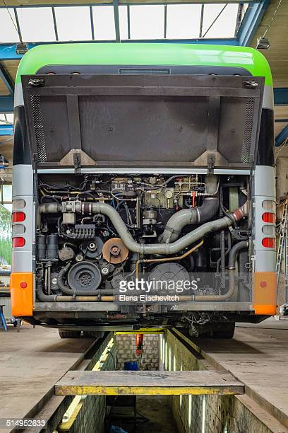 CNG bus in the autoworkshop