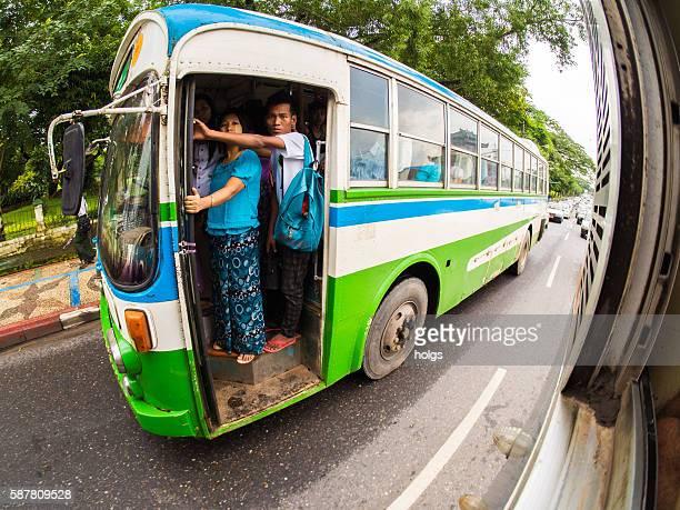 Bus in Yangon, Myanmar