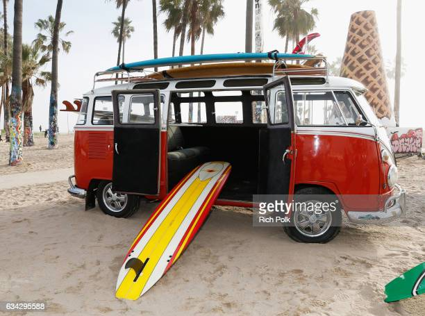 VW bus is seen at the TommyLand Tommy Hilfiger Spring 2017 Fashion Show on February 8 2017 in Venice California
