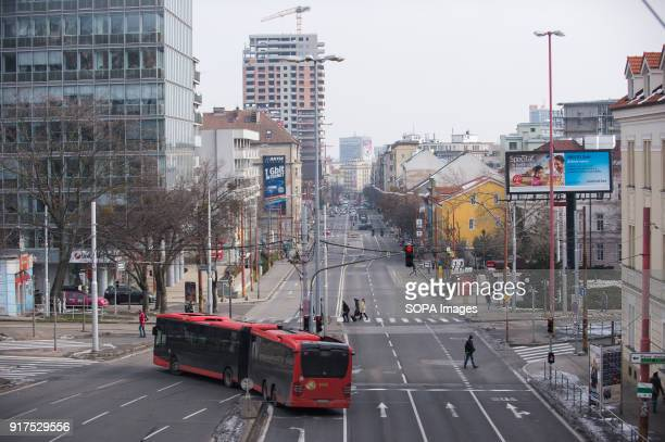 A bus is seen in the center of Bratislava Bratislava is the capital city of Slovakia it has a population of just over 420000 in late 2017