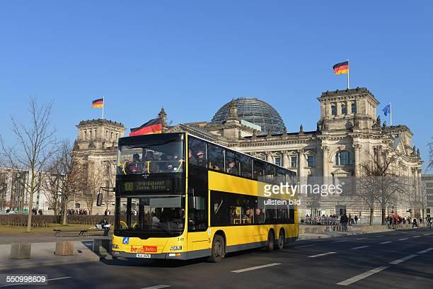 Bus Linie 100 Reichstag Tiergarten Berlin Deutschland