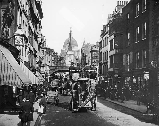 Omnibus On Fleet Street Wall Art