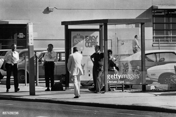 Bus Shelter At 15th And Tremont Streets Was Built By 3M Co Credit Denver Post