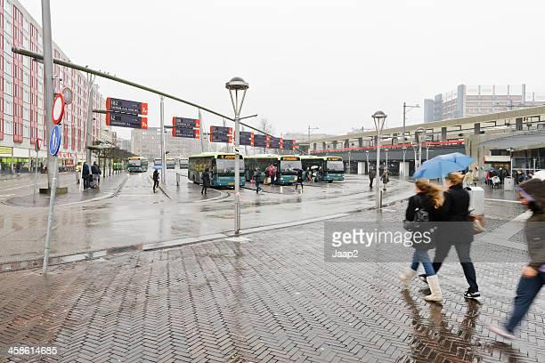 Bus station downtown Leiden