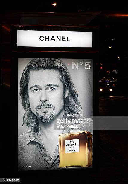 Brad Pitt is the firstever man to sell Chanel No 5 in an advertising campaign New York City on