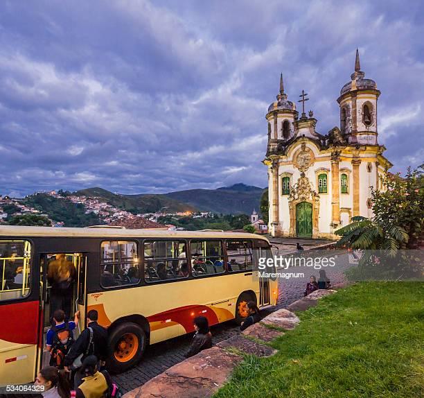 Bus stop near São Francisco de Assis Church