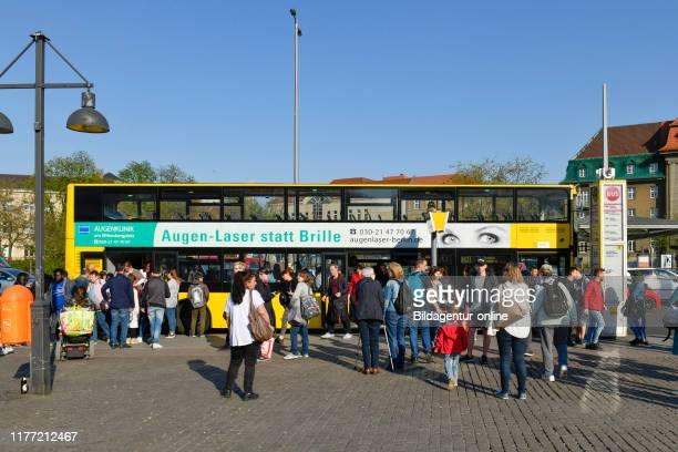 Bus stop, old town-dweller ring, Spandau, Berlin, Germany, Bushaltestelle, Altstadter Ring, Germany.