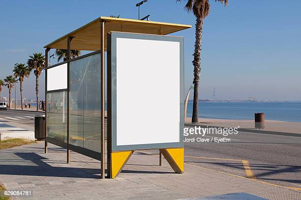 Bus Stop On Roadside
