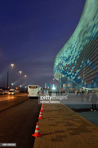 CONTENT] Bus stop outside the Olympic stadium Iceberg in the coastal cluster one of the venues for the 2014 Winter Olympics in Sochi Russia