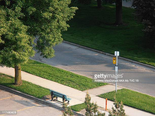 bus stop - london ontario stock photos and pictures