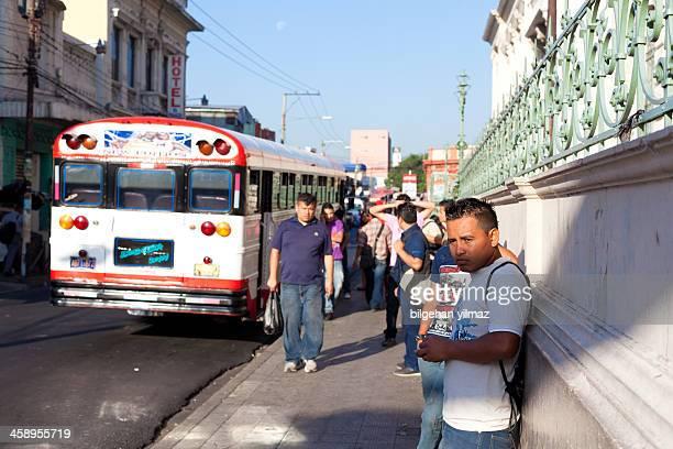 bus stop - san salvador stock pictures, royalty-free photos & images