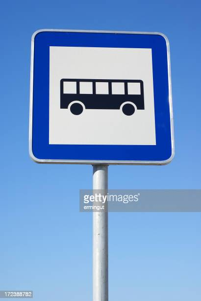 Bus stop traffic sign.