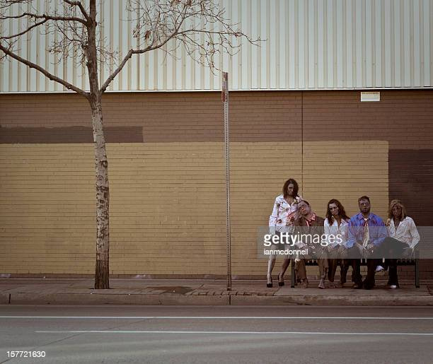 bus stop zombies
