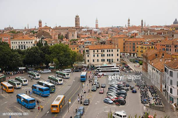 Bus terminal in Venice, elevated view