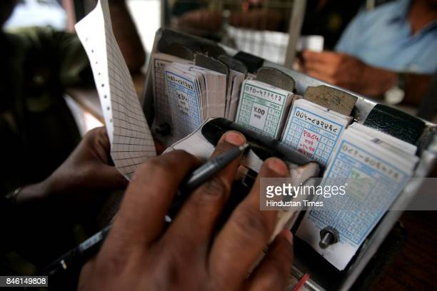 Bus Ticket Conductor with Tickets