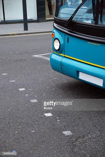 Bus traffic road crossing