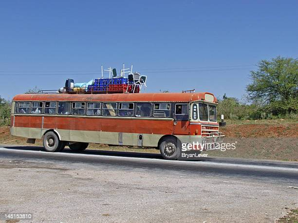 bus transport, african style - zimbabwe stock pictures, royalty-free photos & images