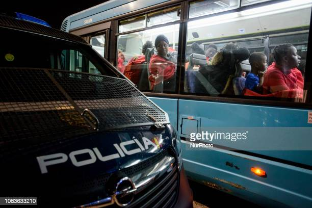 A bus with mothers and children to be transferred to a center Since the beginning of the year 2019 around 1300 rescued migrants have disembarked at...