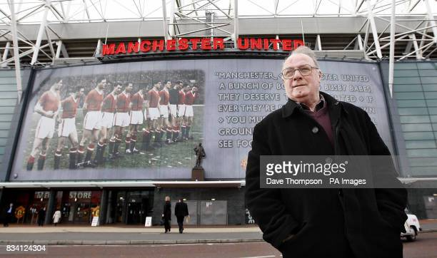 Busby Babe Albert Scanlon who survived the Munich disaster leaves Old Trafford Manchester