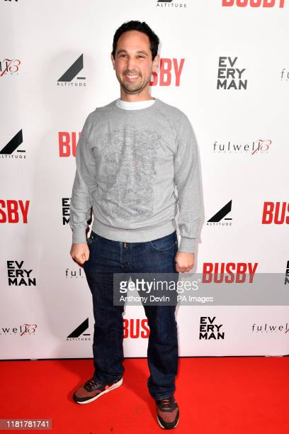 Busby Creative Producer Daniel Harris during the World Premiere of new feature documentary, BUSBY, at Everyman Manchester St Johns, Manchester.