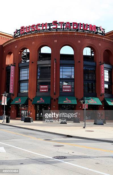 Busch Stadium, home of the St. Louis Cardinals baseball team in St. Louis, Missouri on November 15, 2015.