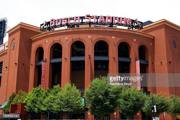 Busch Stadium, home of the St. Louis Cardinals, in St. Louis, Missouri on AUGUST 04, 2012.