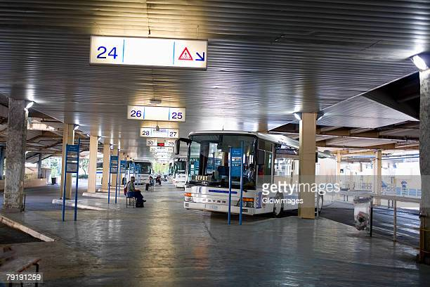 Buses in a bus station, Nice, France
