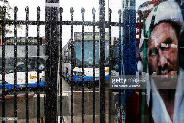 Buses sit parked at the Bondi Junction Bus Depot as bus drivers hold a 24hour stoppage on December 18 2009 in Sydney Australia Drivers walked out at...