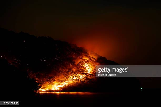 bush fire nsw australia - forest fire stock pictures, royalty-free photos & images