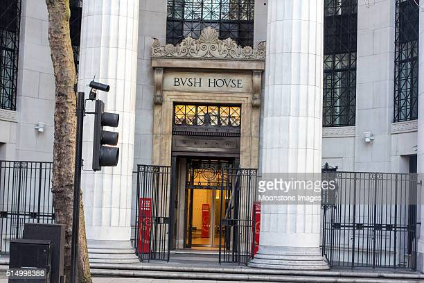 bush house in aldwych, london - king's college london stock pictures, royalty-free photos & images