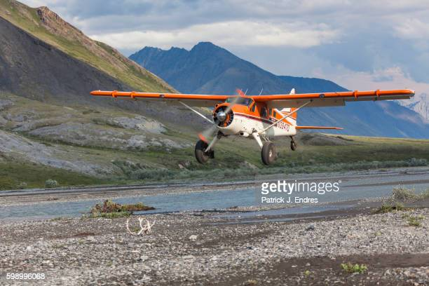 Bush plane, Canning River, Alaska.