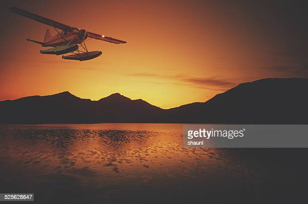 Bush Plane in Sunset