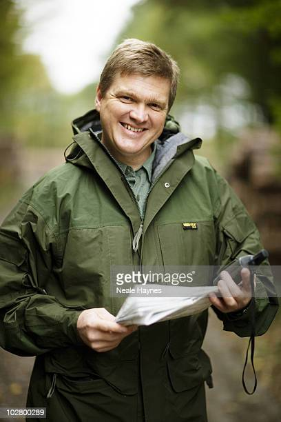 Bushcraft and survivor expert Ray Mears poses for a portrait shoot for the Mail on Sunday in Surrey UK