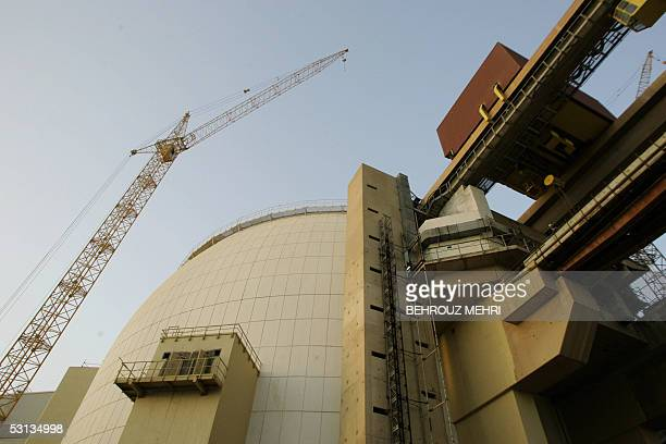 The main reactor building of Bushehr nuclear power plant is seen in the picture in Bushehr port on the Persian Gulf000 km south of Tehran 22 June...