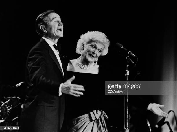 Bushes at stripes Inauguration Ball February 4 1989