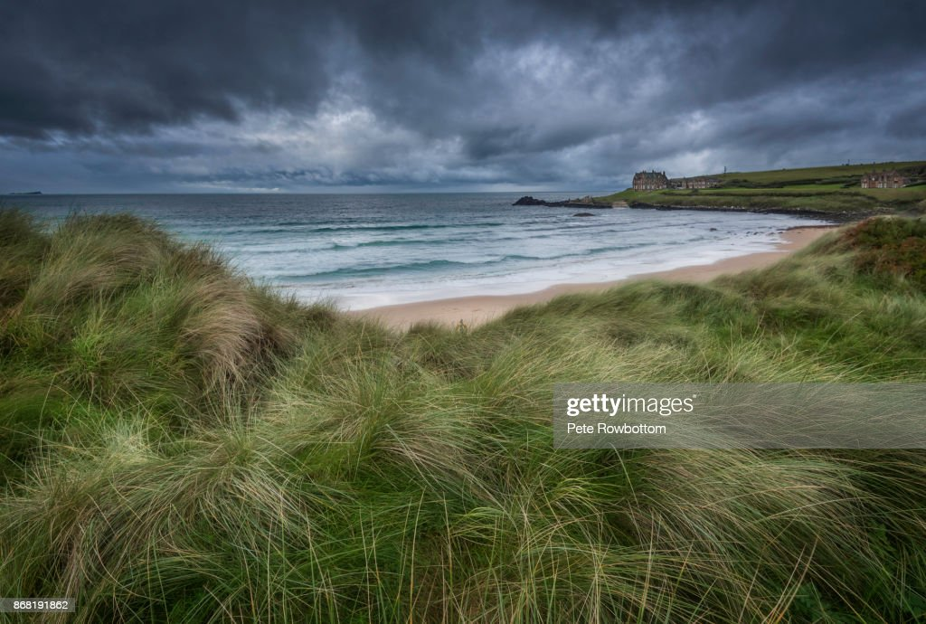 Bushfoot Strand Seastorm : Stock Photo