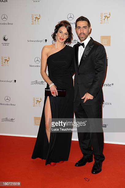 Bushido and Anna Maria Lagerblom attend the Red Carpet for the Bambi Award 2011 ceremony at the RheinMainHallen on November 10 2011 in Wiesbaden...