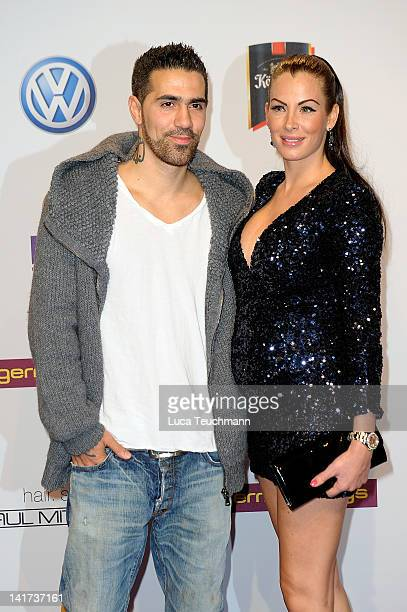 Bushido and AnnaMaria Lagerblom arrive for the Echo Awards 2012 at Palais am Funkturm on March 22 2012 in Berlin Germany