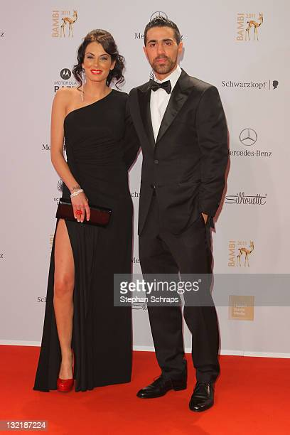 Bushido and AnnaMaria Lagerblom attend the Red Carpet for the Bambi Award 2011 ceremony at the RheinMainHallen on November 10 2011 in Wiesbaden...