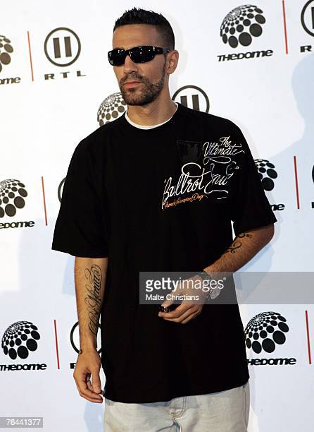 Bushido arrives before The Dome 43 music show at the Color Line Arena on August 31 2007 in Hamburg Germany