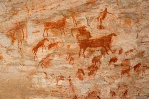 Bushman cave painting 157435069